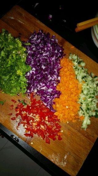 五彩时蔬蛋炒饭的做法步骤:2