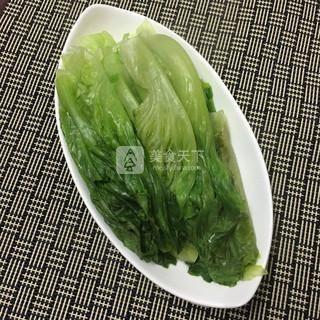 蚝油生菜的做法步骤:3