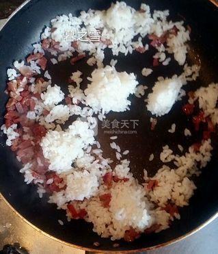 腊肠蛋炒饭的做法步骤:5