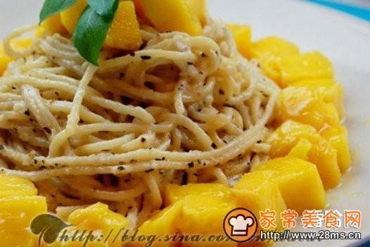 芒果奶油意大利面的做法