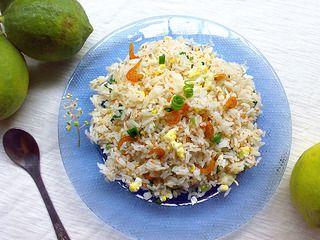蟹子虾米蛋炒饭的做法步骤:12
