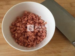 香葱蛋炒饭的做法步骤:3
