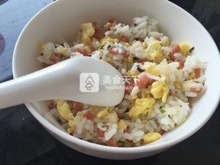 香葱蛋炒饭的做法步骤:11