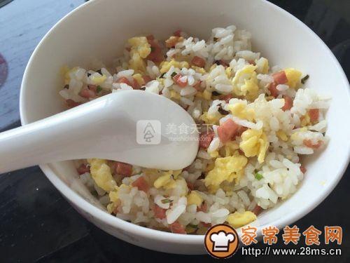 香葱蛋炒饭的做法