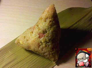 叉烧蛋黄粽的做法步骤:7