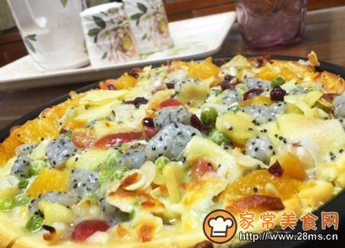 水果披萨的做法