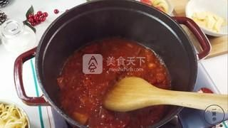 芝士番茄意面的做法步骤:4