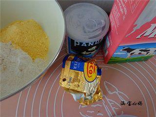 香酥奶香玉米饼的做法步骤:1