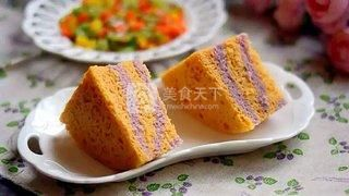 南瓜紫薯发糕的做法步骤:9