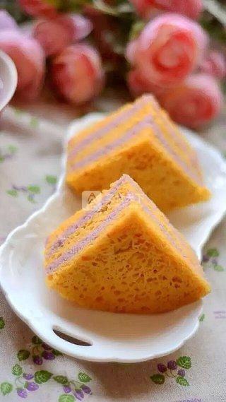 南瓜紫薯发糕的做法步骤:10