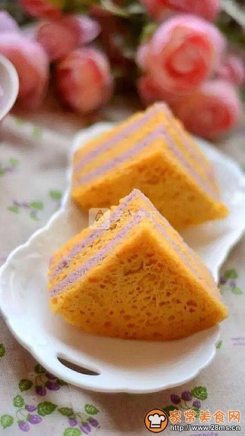 南瓜紫薯发糕的做法