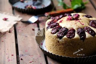 无泡打粉版玫瑰红糖发糕的做法步骤:8