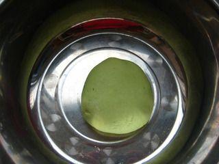 豆浆翡翠面的做法步骤:8