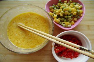 玉米蔬菜煎饼的做法步骤:2