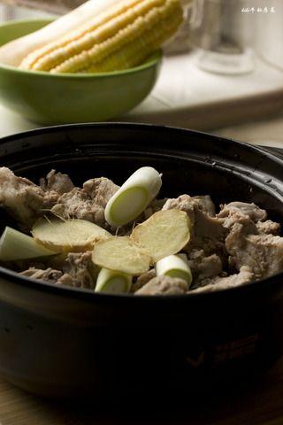 玉米山药龙骨汤的做法步骤:5