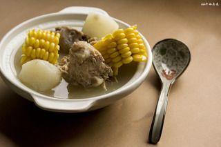 玉米山药龙骨汤的做法步骤:11