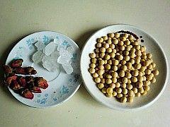 玫瑰花豆浆的做法步骤:1