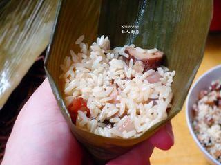 广式腊味粽子的做法步骤:8