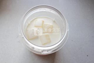 芒果白雪黑糯米甜甜的做法步骤:4