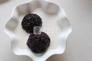 芒果白雪黑糯米甜甜的做法步骤:5