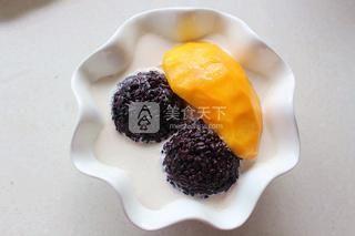 芒果白雪黑糯米甜甜的做法步骤:6