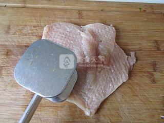 爆浆鸡排的做法步骤:2