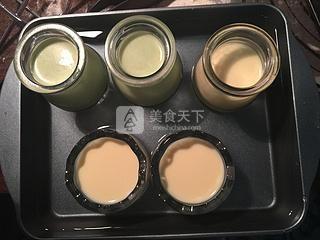抹茶烤布丁的做法步骤:10