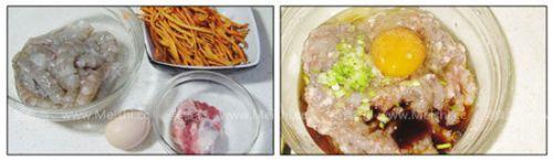 鲜虫草花蒸虾饼