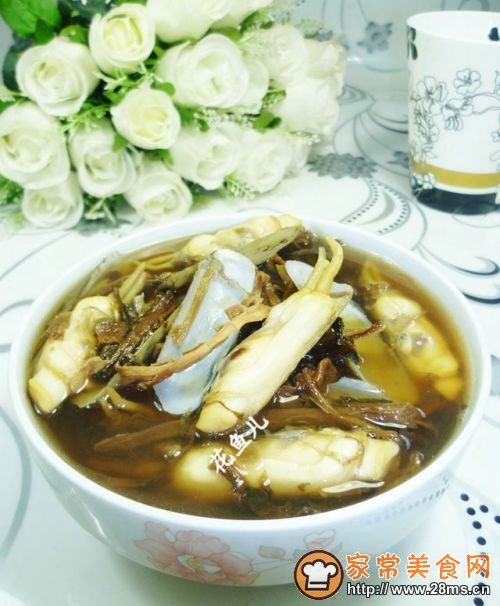 笋干菜蛏子汤的做法