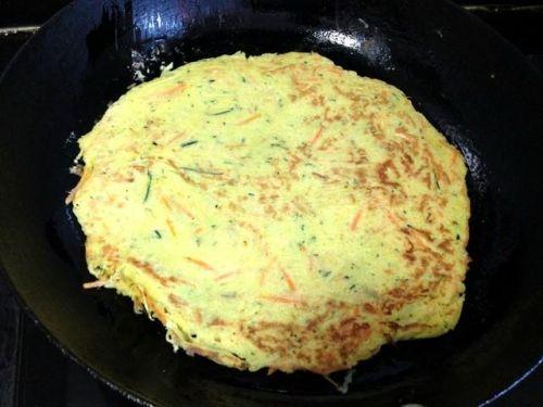 美味又营养的南瓜胡萝卜鸡蛋饼,早餐主食最佳之选!