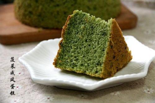 低油、低糖、颜值高、味道好的菠菜戚风蛋糕,你肯定想知道怎么做