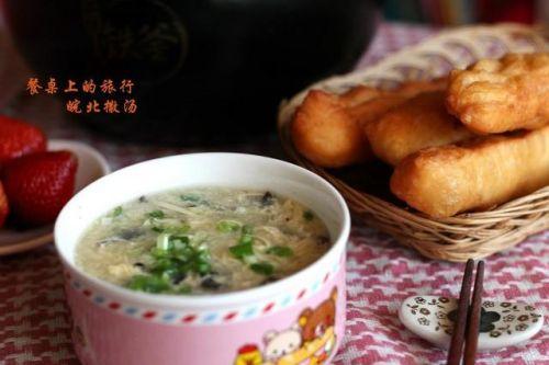 撒汤好喝又易做,鸡汤味浓蛋花香,家庭自制安全放心的健康早餐!