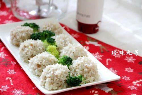 好吃又好看,有荦又有素,蒸出来的美食--糯米珍珠丸子