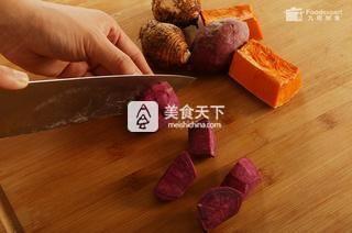 三色芋圆――九阳知食的做法步骤:1