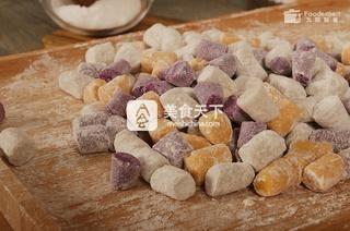 三色芋圆――九阳知食的做法步骤:4