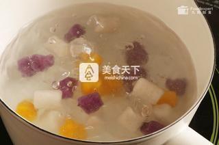 三色芋圆――九阳知食的做法步骤:5