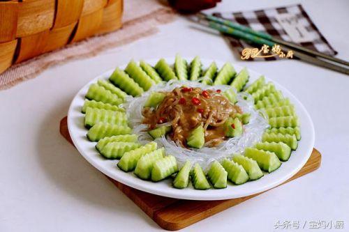 宴客小凉菜:麻酱黄瓜拌粉丝