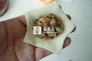 花朵蒸饺的做法步骤:11