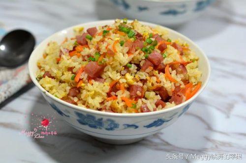 又鲜又香营养高:香肠鸡蛋炒饭