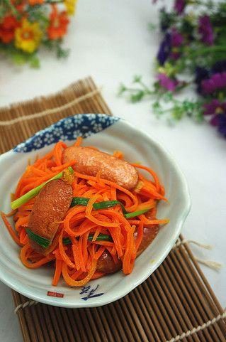 胡萝卜脆肠小炒的做法步骤:6