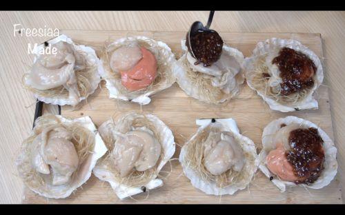 蒜蓉粉丝蒸扇贝的做法图解9