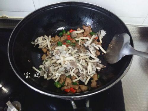 菌菇炒肉片的做法图解9