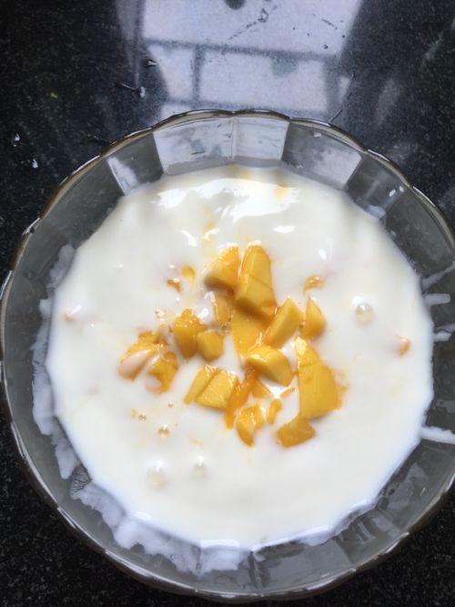 自制酸奶加芒果粒的做法图解9