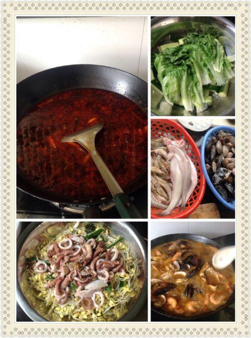 水煮海鲜的做法图解4