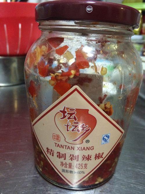 蒜薹泡椒炒鸡胗的做法图解4