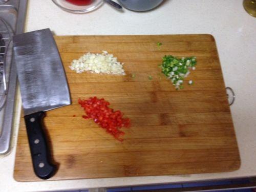 美味三色蒸茄子的做法图解2