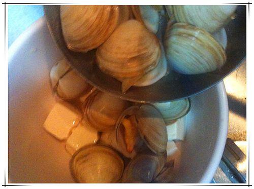 味增蛤蜊豆腐汤的做法图解4