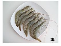 黄酒焖虾的做法图解1