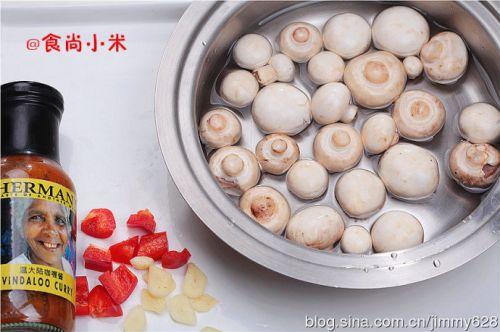 咖喱蘑菇的做法图解1