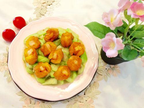 油条虾炒丝瓜的做法图解6